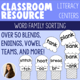Ice Cream Word Family Sorting! Over 50 Blends, Endings, Vowel Teams, and More!