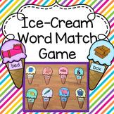Ice-Cream Word Match Game - Literacy CVC