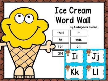 Ice Cream Word Wall & 200 Fry Words