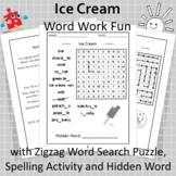 Ice Cream Word Work Fun