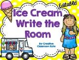 Ice Cream Write the Room {Editable}