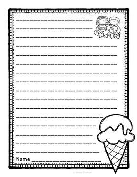 Ice Cream Writing