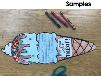 Ice Cream Writing Craft *back to school AND end of the year*