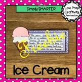 Ice Cream Writing Cut and Paste Craftivity FREEBIE