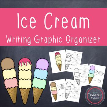 Ice Cream Writing Graphic Organizer