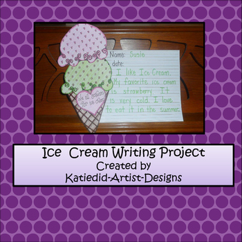 End of the Year, Ice Cream Writing Craft