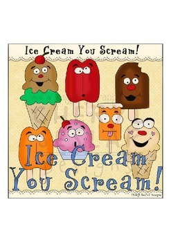Ice Cream You Scream, NO LICENSE REQUIRED CLIPART COLLECTION
