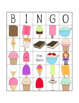 Ice Cream and Popsicle Bingo
