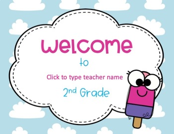 Ice Cream and Popsicle Editable Back to School Postcards to Students