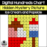 Ice Cream and Popsicle Hundreds Chart Hidden Picture Activity a Summer Treat