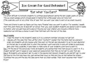 Ice Cream for Good Behavior: End of Year Motivation
