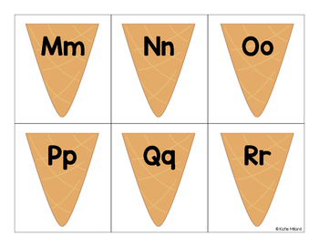 Ice Cream for Letters (A letter matching game)