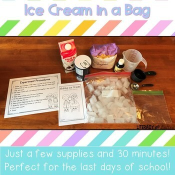 Ice Cream in a Bag Science Lab {States of Matter Science Snack}