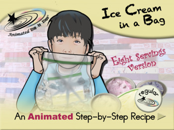 Ice Cream in a Bag (eight servings) - Animated Step-by-Step Recipe