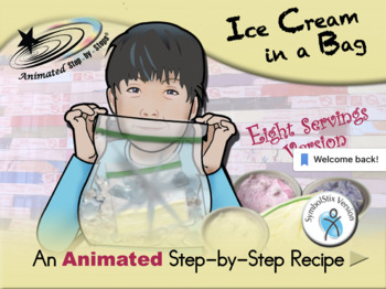 Ice Cream in a Bag (eight servings) - Animated Step-by-Step Recipe SymbolStix