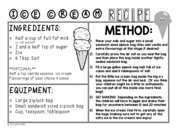 Ice Cream in a Bag - make it without a freezer!