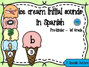 Ice Cream initial sounds in Spanish - Sonidos iniciales