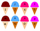 Ice Cream letter matching game