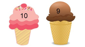 Ice Cream numbers 1-20 ESL TEKS COMMON CORE counting numbers in order