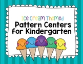Ice Cream themed Pattern Center Cards for Kindergarten