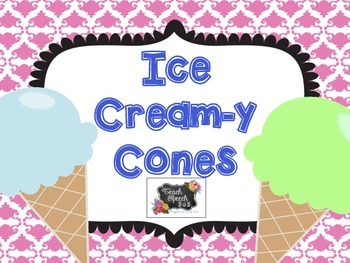 Ice Cream-y Cones for Story Retell