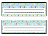 Ice Creams Desk Name Plates, Name Tags, Summer Labels, Classroom Décor
