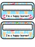 Ice Creams Pencil Box Labels, Classroom Labels