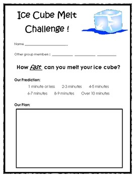 Ice Cube Melt Challenge!
