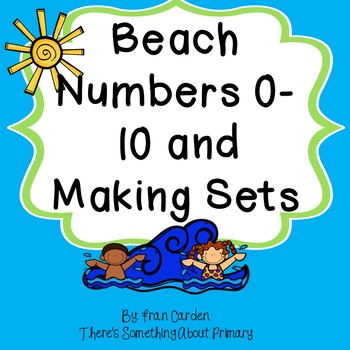 Beach and Summer Number Cards, Counting, and Making Sets to 10