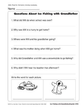 Ice Fishing with Grandfather/Pescando en el hielo con el abuelo