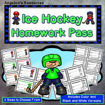 Ice Hockey Homework Pass - Incentive Reward Coupon