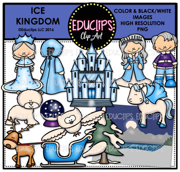 Ice Kingdom Clip Art Bundle {Educlips Clipart}