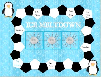 """Ice Meltdown"" Game- Practicing Words with Blends"