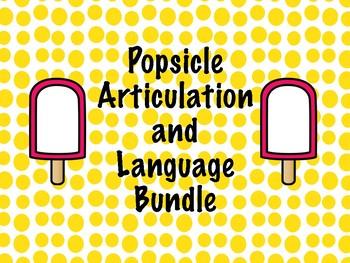Ice Pop Articulation and Language Fun!