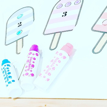 Ice Pop Dot Paint with Numbers