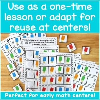 Math Patterns Practice - Ice Pop Patterns!