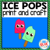 Popsicle Craft Activity and Creative Writing