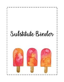 Ice Pop Watercolor Substitute Binder