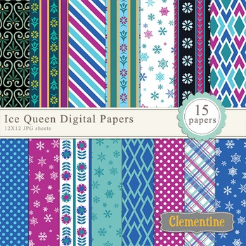 Ice Queen digital papers