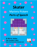 Ice Skater Mystery Picture Parts of Speech