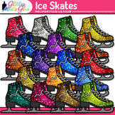 Ice Skates Clip Art {Sports Equipment for Winter Activitie