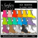 Ice Skates Clipart {A Hughes Design}