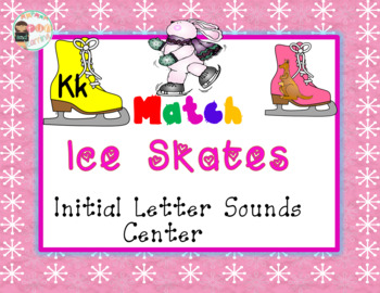 Ice Skates Initial Letter Sounds Center