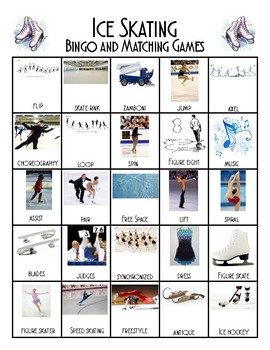 Ice Skating Bingo and Matching Cards