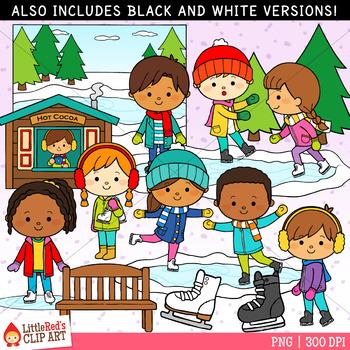 Clipart: ice skate clip art | Ice skating kids christmas clip-art — Stock  Vector © kozzi2 #108183456