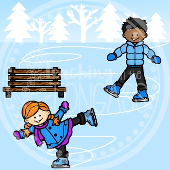 Ice Skating Clipart (Winter Clipart)