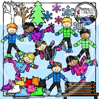 Ice Skating Clipart Bundle