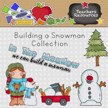 Building Snowmen Clip Art Collection