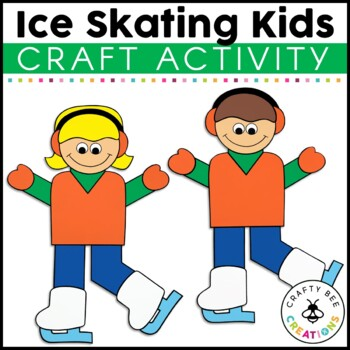 Ice Skating Kids Cut and Paste