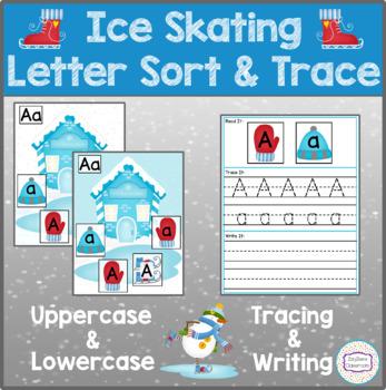 Ice Skating Letter Sort & Trace